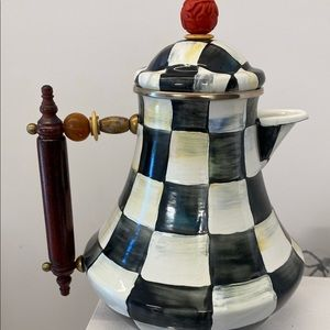 Mackenzie Childs Courtly Check Coffee Pot